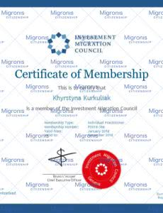Investment Immigration Council Membership