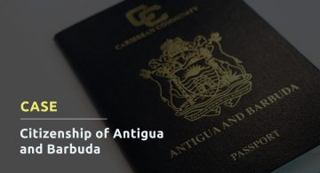 CASE: CITIZENSHIP OF<br>ANTIGUA AND BARBUDA