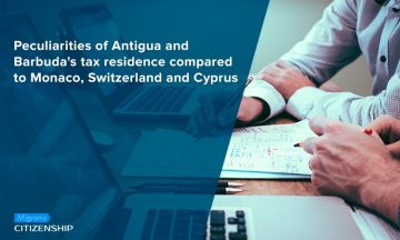 Peculiarities of Antigua and Barbuda's tax residence compared to Monaco, Switzerland and Cyprus