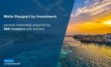 Malta Passport by Investment: second citizenship acquired by 566 investors with families