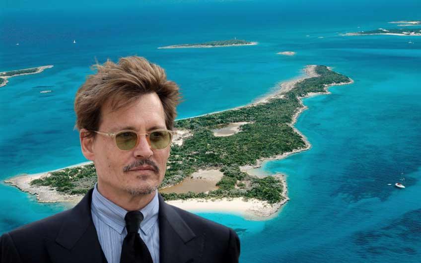 Johnny Depp purchased an island